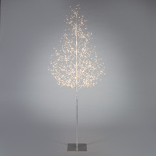 6ft Electric Silver LED Tree