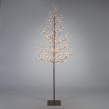 6ft Brown Electric LED Tree