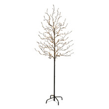 6ft City Lights Tree with Warm White LED Lights