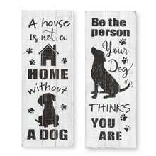 Black and White Dog Wall Decor