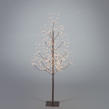 4ft Electric Brown Tree with Warm White Micro LED Lights