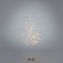 4ft Electric Silver Tree with Warm White Mirco LED Lights