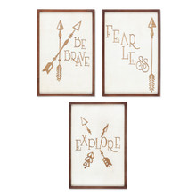 Set of 3 Wood Quote Wall Decor