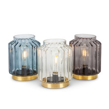 Set of 3 Glass Table Light
