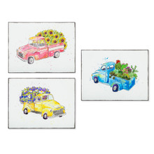 Set of 3 Embossed Truck Wall Decor
