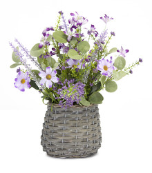 Purple Mini Floral Basket