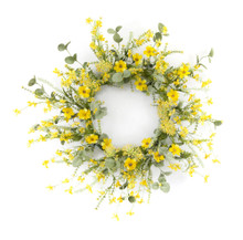 Yellow Mini Floral Wreath