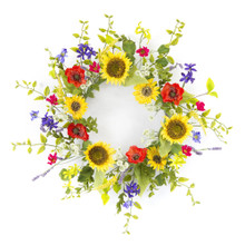 Sunflower and Poppy Wreath