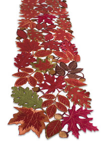Red Autumn Leaves Table Runner