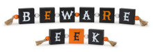 Set of 2 Wooden Halloween Sign