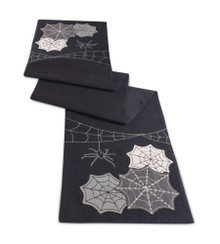Spider and Web Halloween Table Runner