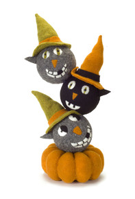 Decorative Halloween Cat Stack