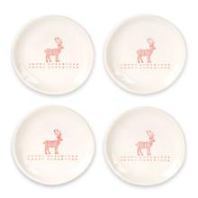 Christmas Deer Plate Set of 4
