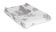 Reversible Grey and White Snowflake Throw
