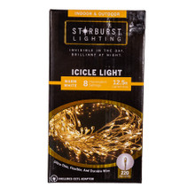 This 12.5-ft 220-Light Starburst Warm White LED Icicle Light Set from Kurt Adler is a great addition to any lighting decoration! This light set features ultra-thin, flexible and durable wire for an invisible look during the day and a brilliant and bright look at night. This set includes 220 miniature warm white LED lights with a timer of 6 hours on and 18 hours off. It has 8 illumination settings which include steady on, twinkle, fading, chasing, slow glow, sequential, waving and combination. It has a silvery wire that can be shaped, a 12.5-ft lighted area with 15-drops and a 6-ft lead wire and includes a CETL adaptor. Starburst icicle lights are a perfectly discreet and decorative lighting solution for any indoor or outdoor setting.
