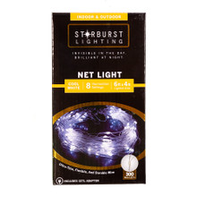 This 300-Light 6-ft Starburst Cool White LED Net Light is a great addition to any lighting decoration! This light set features ultra-thin, flexible and durable wire for an invisible look during the day and a brilliant and bright look at night. Starburst icicle lights are a perfectly discreet and decorative lighting solution for any indoor or outdoor setting.