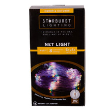 This 300-Light 6-ft Starburst Multi LED Net Light is a great addition to any lighting decoration! This light set features ultra-thin, flexible and durable wire for an invisible look during the day and a brilliant and bright look at night. Starburst icicle lights are a perfectly discreet and decorative lighting solution for any indoor or outdoor setting.