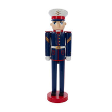 This 15-in Wooden Military Nutcracker from Kurt Adler is a festive addition to any holiday decoration or nutcracker collection. Wearing a dress uniform, this piece is perfect for anybody in the military or their families.