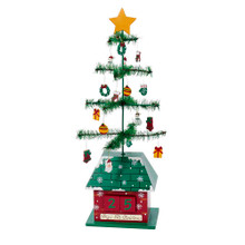 This 17-in Christmas Tree Calendar with Ornaments from Kurt Adler is a fun and festive addition to your holiday decoration! Perfect for counting down the days 'til Christmas, this ornately decorated tree's base features two blocks which you can arrange to display the number of days left until the big day!