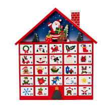 This 16-in Wooden Advent Calendar by Kurt Adler is a fun and festive addition to any holiday decoration! Its classic design resembles a house and features 24 empty drawers, waiting for you to fill it with tiny gifts and treats of your choice. Each drawer will reveal the customized gift as your family Countdown the days until Christmas. Santa Claus is waving happily from the roof of this house as he carries his bag of toys.