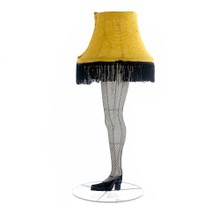 """The leg lamp from A Christmas Story is undeniably the most iconic object viewers take from the movie. So why not bring a piece of that story to life with this Kurt Adler 28"""" Leg Lamp 3D tinsel lighted lawn decoration? Featuring the yellow leg lamp itself, people will look into your yard rather than squint at the window for the lamp."""