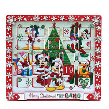 Countdown the days 'til Christmas with Mickey and friends! This Advent calendar from Kurt Adler is the perfect way for Disney fans to spend the Christmas season. The design features Mickey, Minnie, Donald, Daisy, Goofy, and Pluto!
