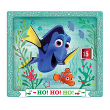 "Find your way to Christmas Day with this Finding Dory Advent Calendar from Kurt Adler! Dory and Nemo are featured in this aquatic design, along with the words, ""Ho Ho Ho!"" Turn each door to reveal the next number as you Countdown the days 'til Christmas."