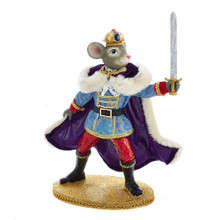 Bring back the memories of the Nutcracker Suite with this Mouse King with Sword from Kurt Adler! Part of Kurt Adler's Fabriche collection and a fun and festive addition to any holiday decoration. The mouse king is dressed in royal attire, complete with crown, cape and boots while proudly holding up a sword.