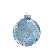 These Silver Blue with Glitter and Sequins Glass Ball Ornaments from Kurt Adler are a classic addition to your holiday decoration or Christmas tree. This box set includes six blue ornaments with silver glitter and sequin swirl accents.