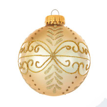 These gold glass ornaments with fancy gold glitter design from Kurt Adler are a classic addition to any holiday decoration or Christmas tree. Each shiny gold glass ball ornament features a beautifully crafted fancy gold glitter pattern