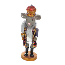 "This Kurt Adler 12"" Hollywood Mouse King Nutcracker is a fun, festive way to add to your holiday decoration or nutcracker collection. Designed by renowned artist Holly Adler, Hollywood Nutcrackers is a whimsical collection of nutcrackers created exclusively for Kurt S. Adler, Inc. and features an assortment of characters including Christmas, fantasy and everyday nutcrackers. Their designs put a unique, vibrant, memorable twist on traditional nutcrackers. This nutcracker features a major character in ""The Nutcracker Suite,"" the Mouse King, with his signature gray mouse face, regal crown and coat, and long sword."
