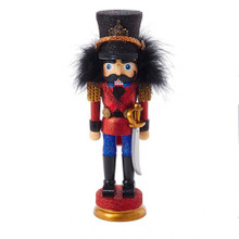 "This Kurt Adler 12"" Hollywood Nutcracker Prince is a fun, festive way to add to your holiday decoration or nutcracker collection. Designed by renowned artist Holly Adler, Hollywood Nutcrackers is a whimsical collection of nutcrackers created exclusively for Kurt S. Adler, Inc. and features an assortment of designs including Christmas, fantasy and everyday nutcrackers. Their designs put a unique, vibrant, memorable twist on traditional nutcrackers. This nutcracker features a major character of ""The Nutcracker Suite,"" the Nutcracker Prince, with his intricate blue and red uniform with gold detailing. He is holding a long sword, and is standing on a round blue and gold base."