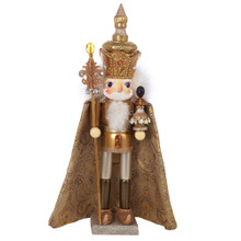 "This Kurt Adler 18"" Hollywood Gold King Nutcracker is a beautifully festive addition to any holiday decoration or nutcracker collection. Designed by renowned artist Holly Adler, this charming horse is part of the Hollywood collection - a whimsical collection of nutcrackers and other figures created exclusively for Kurt S. Adler, Inc. and features an assortment of characters with Christmas, fantasy and everyday themes. Their designs put a unique, vibrant, memorable twist on traditional nutcrackers and wood designs. This ornately-fashioned gold King represents one of the Three Wise Men, carrying an ornate container of myrrh to present to the Baby Jesus."