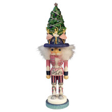 Hollywood Nutcrackers is a whimsical collection of nutcrackers created exclusively for Kurt S. Adler, Inc. and features an assortment of designs that put a unique, vibrant, memorable twist on traditional nutcrackers. This truly special, unique piece features ballet-themed detailing from the pink and silver outfit to the Christmas tree hat surrounded by beautifully posed ballerinas.