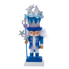 Hollywood Nutcrackers is a whimsical collection of nutcrackers created exclusively for Kurt S. Adler, Inc. and features an assortment of designs that put a unique, vibrant, memorable twist on traditional nutcrackers. This 12-in dolphin nutcracker features a nutcracker dressed in glittery blue, topped with a fun dolphin hat.