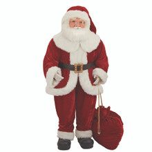 This 68-in Kringle Klaus Santa with bad from Kurt Adler is a fun and festive addition to any holiday decoration. Part of the Kringle Klaus collection, Santa is featured here wearing his classic red and white suit and hat. He is holding a matching red bag with gold cord.