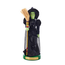 """This 11"""" Wizard of Oz Wicked Witch Nutcracker from Kurt Adler is the perfect addition to the collection of any Wizard of Oz fan. The Wicked Witch of the West herself is featured in this piece and is beautifully detailed from her pointed, veiled hat to her broom, to her bright green skin."""