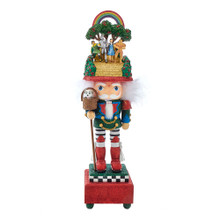 This Kurt Adler Hollywood 20-in Wizard of Oz Musical Nutcracker is a beautiful addition to any holiday decoration or nutcracker collection. Designed by renowned artist Holly Adler, Hollywood Nutcrackers is a whimsical collection of nutcrackers created exclusively for Kurt S. Adler, Inc. and features an assortment of characters including Christmas, fantasy, and everyday characters. This nutcracker has green, red, and blue glitter detailing. Topping off the nutcracker, Dorothy, Tin Man, Scarecrow, and Cowardly Lion are featured arm and arm on the yellow brick road. Toto is in a basket attached to a staff held by the nutcracker. This nutcracker is perfect for Wizard of Oz fans and collectors.