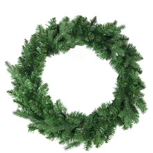 This 24-in Unlit Jackson Pine Wreath from Kurt Adler is the perfect addition to your holiday decoration. Features a bright green wreath with thick pine needles. Perfect for doors or other areas of your home in need of a little extra dash of holiday cheer.