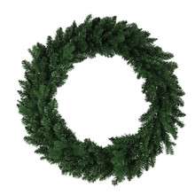 This 30-in Unlit Jackson Pine Wreath from Kurt Adler is the perfect addition to your holiday decoration. Features a bright green wreath with thick pine needles. Perfect for doors or other areas of your home in need of a little extra dash of holiday cheer.