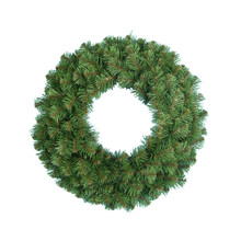 "This Kurt Adler 24"" Virginia Pine Wreath is a beautiful, festive way to add to your holiday decoration. Perfect for doors and windows, this artificial wreath has a thick, round, green design with 180 tips for a realistic look."