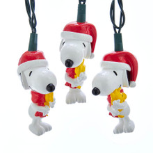 Celebrate the holidays with the adorable Snoopy in this set of 10-Light LED Snoopy and Woodstock Light Set by Kurt Adler! Each of the 10 light covers in this set features Snoopy wearing a festive red scarf and Santa hat with Woodstock in his arms. This light set is sure to be a hit with any Peanuts© fan!