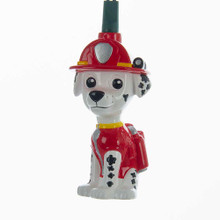 "Complete your holiday decoration with this adorable 10-light Paw Patrol light set by Kurt Adler! Each light features Dalmatian fire pup Marshall in his iconic red outfit and with your imagination, he is ""ready for a ruff, ruff rescue!"" this holiday season! This set has a 30-in green lead wire, 12-in light spacing, 12V 0.08A clear incandescent bulbs, 4 spare bulbs, and 1 fuse. For both indoor and outdoor use."