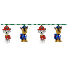 This 10-Light Paw Patrol Light Set from Kurt Adler is a fun and festive addition to any holiday or party decoration! Perfect for fans of Paw Patrol, this light set features alternating Marshall and Chase light covers. This set features a 30-in lead wire, 12-in light spacing, clear incandescent bulbs, and includes 4 spare bulbs and 1 fuse. For both indoor and outdoor use.