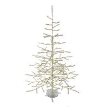 The 36-in sterling silver coral tree from Kurt Adler is a great silver Christmas tree alternative for you this holiday season. The tree is a 178 silver tip with a silver base.