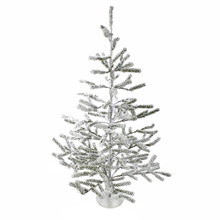 Add the spirit of the season to your home this Christmas with the 36-in flocked alpine coral tree from Kurt Adler. The alpine tree is coated frosty white and stands on a white base.