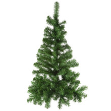 """This Kurt Adler 36"""" Norway Pine Half Tree is a beautiful, classic way to add to your holiday decoration. Ideal for limited spaces, this unlit half tree has a flat back and hangs on the wall (tree stand is not required or included). Its thick, green design has a total of 149 tips."""
