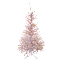 This 4.5-ft Pre-Lit Glisten Pine Tree from Kurt Adler is a brilliant way to add to your Christmas decoration. This tree boasts 200 UL multi-color lights, 358 tips and a 30-in diameter. This perfectly captures the spirit of Christmas!