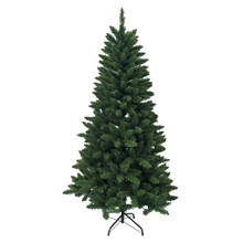 This 6-ft Green Pine Tree by Kurt Adler is a beautiful and classic addition to any holiday decoration. With 608 tips and a 38-in girth, this tree has a full and realistic look. This tree is unlit, leaving you free to use your own lighting design.