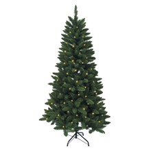Don't have enough time to decorate your Christmas tree this year? That's okay – with this Kurt Adler 6-ft Pre-Lit LED Green Pine Tree, you won't need to worry about putting on the light sets! With 250 warm white UL-approved LED lights, 618 tips, a 38-in girth, and a metal stand, this green pine tree is the perfect size for and addition to your holiday decoration. With a couple of ornaments and a treetop, the feel of Christmas will soon be here.